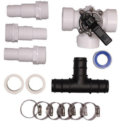 Pool Solar Heater Bypass Kit Above Ground Swimming Pools Parts Clamps Set Replacement