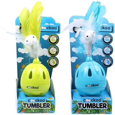 Coockoo Tumbler Noise Making Cat Toy and Treat Dispenser With Timer