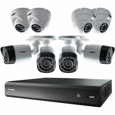 Lorex 16CH HD DVR Security Surveillance Kit w/ 8 IP Cameras - LHV00161TC8PM