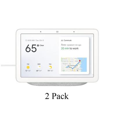 2 Pack Google Home Hub - Google Assistant Smart Home Controller GA00516-US Chalk