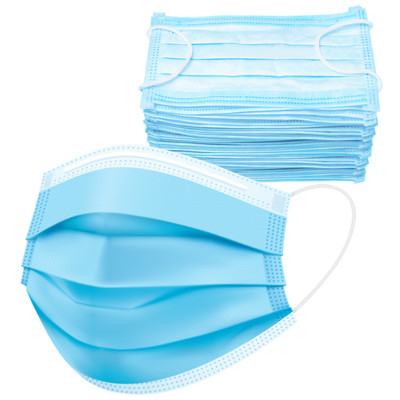 Disposable Face Masks w/ Elastic Ear Loop, 3 Ply Comfortable & Breathable for Blocking Dust Air Pollution Dust Protection