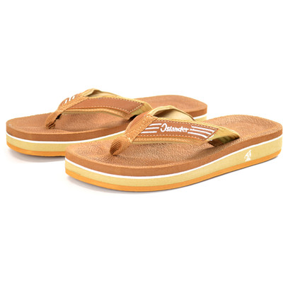 Islander Unisex All-Weather Comfortable and Stylish Flip-Flop Sandals - Brown - M6/W8