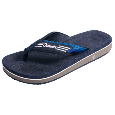 Islander Unisex All-Weather Comfortable and Stylish Flip-Flop Sandals - Navy - M6/W8