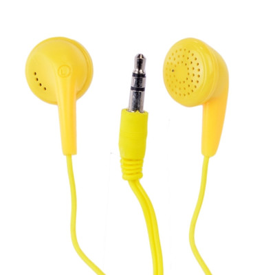 Vibe Color Tunes Vs-120-Ylw In-Ear Stereo Headphones (Yellow) - Retail Hanging P