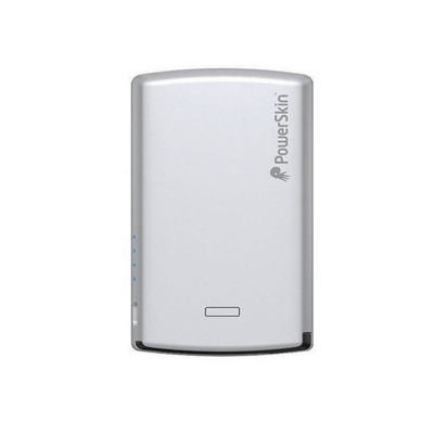 Refurbished PowerSkin 4000mAh Rechargeable Battery Power w/ Built-In Micro USB Cable for Smartphones - Silver