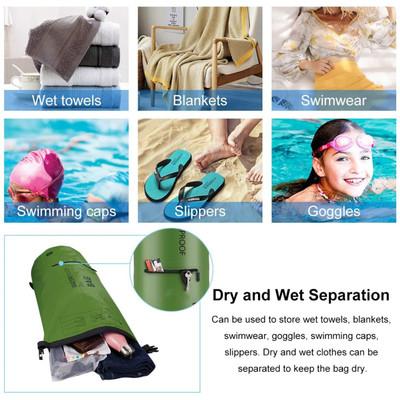 Altatac Waterproof Floating Dry Bag Backpack w/2 Exterior Zip Pocket