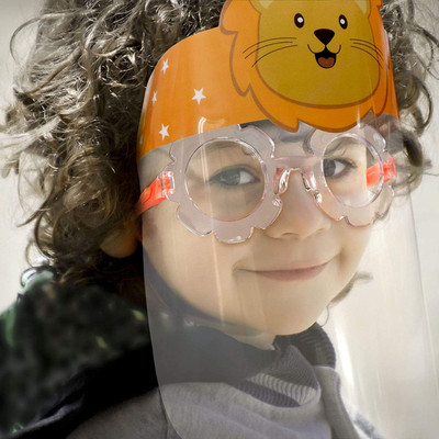 12 Pack - KIDS Glasses-Style Reusable Protective Full Face Shields