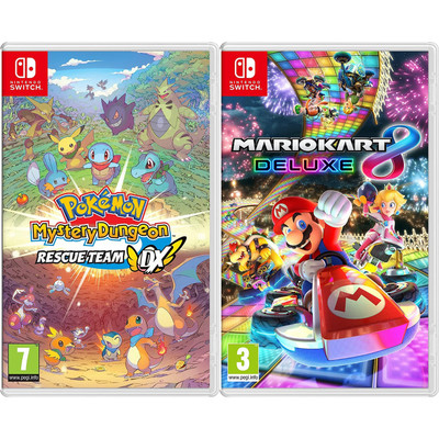 Pokemon Mystery Dungeon: Rescue Team DX & Super Mario Kart 8 - Import Region Free