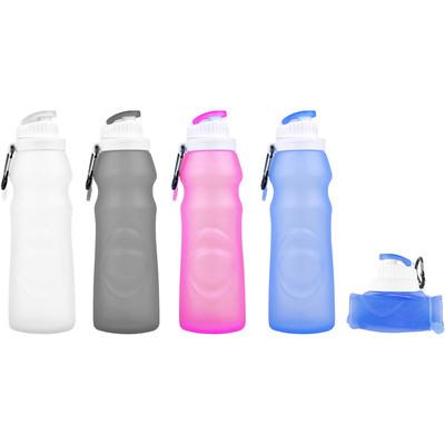 Foldable Portable Silicone Water Bottle PA Free Non-Toxic - 17 oz. 500 ml