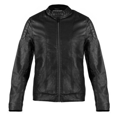 Alta Men's Motorcycle Faux Leather Jacket Zip Up Outerwear