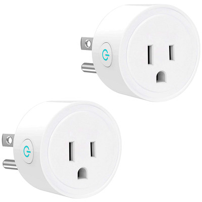 Smart Plug WiFi Socket No Hub Required Works w/ Alexa & Google Assistant 2pc