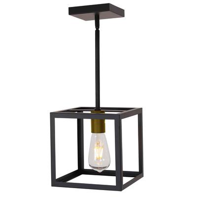 Light Cage Pendant Light Metal Hanging Lighting Fixture Adjustable Height