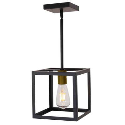 Light Cage Pendant Light Metal Hanging Lighting Fixture Adjustable Height