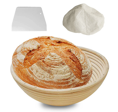 9 Inch Bread Banneton Proofing Basket - Baking Bowl Dough for Sourdough