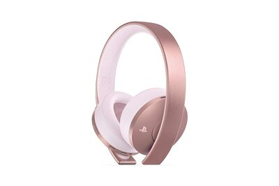 Refurbished Sony PlayStation Gold Wireless Headset 7.1 Surround Sound (Rose GOLD)