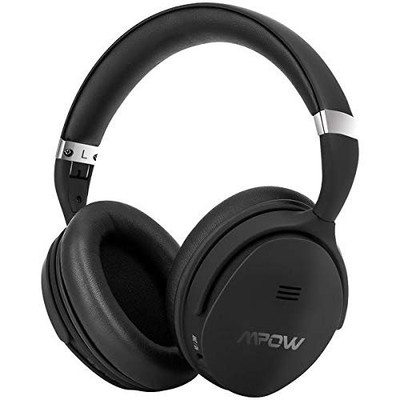 MPOW - X4.0 Wireless Over-the-Ear Headphones, Active Noise Cancelling - Black
