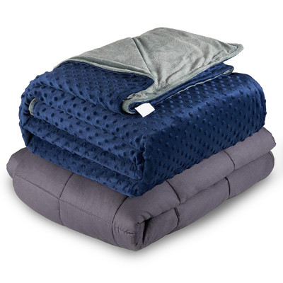 5/15lbs Weighted Blanket, Better Sleep for Adults/Kids -Multiple Sizes & Colors