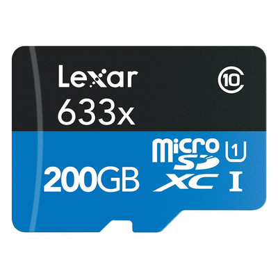 Refurbished Lexar High-Performance microSDXC 633x 200GB Class 10 UHS-I Memory Card