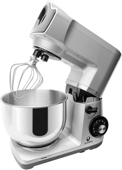 CS-001JBY Stand Mixer 6 Speed Tilt-Head Stoving Varnish, 4.7 quart, 500W, Silver