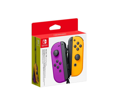 Nintendo Joy-Con (L/R) Wireless Controllers for Nintendo Switch - Neon Purple/Neon Orange