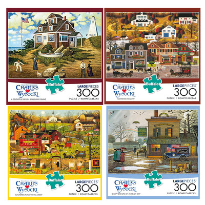 300 Large Piece Jigsaw Puzzles Different Artwork Premium Quality