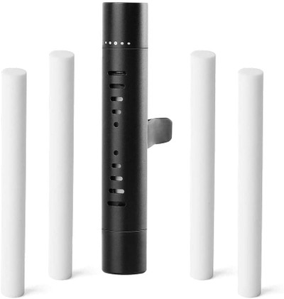 Car Clip Cylindrical Essential Oil Diffuser comes with 4 fragrance Refill Sticks