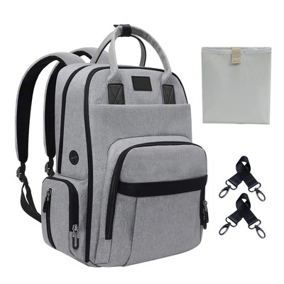 Diaper Bags Backpack Large Changing Bag with Insulated Pockets and Changing Pad