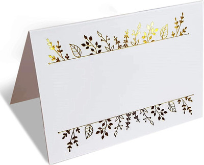 Gold Foil Place Cards Table Seating Cards for Wedding Party100 Pack for Events