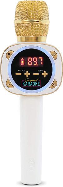 Singing Machine, Carpool Karaoke, Bluetooth Microphone for Cars, White