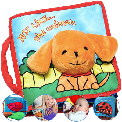 Premium Baby Cloth Book First Year, With Crinkly Sounds, Interactive Toy-Infant