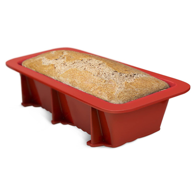 Silicone Bread Loaf and Cake Pans Set Nonstick Mold for Homemade Breads - Red