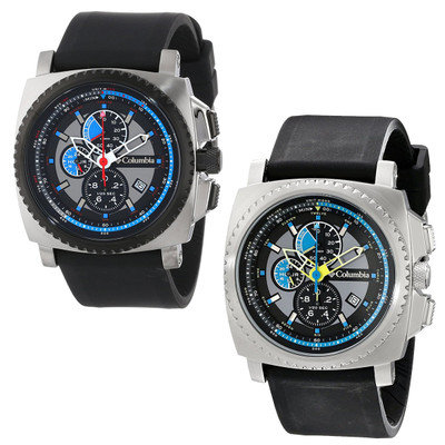 Columbia Men's AQ Alti Multi-Function Chronograph Analog Watch w/ Silicone Band