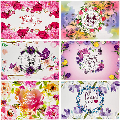 54 Floral Thank You Cards With Envelopes Thank You Cards Bridal Shower Baby Shower Blank Inside For Engagement Wedding Birthday Girl Cute Small Thank You Notes Postcards