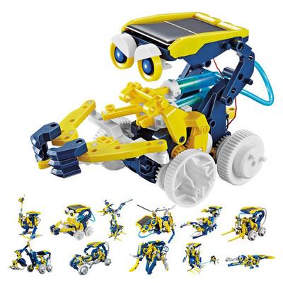 Solar Power Robot Engineering Learning Toys Education Solar Robot Kit 11 in 1 Kids 8+