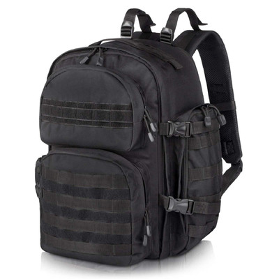 Black Military Tactical Backpack for Men Ideal for Hiking, Camping, Trekking, Outdoor and Hunting