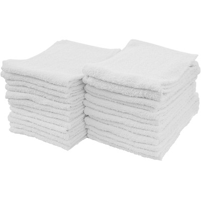 General Use Cotton Terry Cleaning Towels Weight and Ring-Spun Super Soft Terry Loop  24 Pack