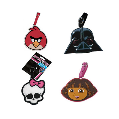 Multi Character Durable Silicon I.D. Luggage Tag with Adjustable Buckle