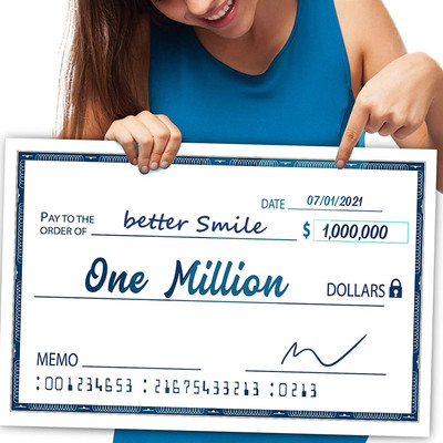 """Oversize Giant Check Reusable Large Fake Checks - Dry Erase Big Blank Presentation Check for Lottery, Donations, Fundraiser  16"""" x 24"""""""