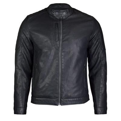 Alta Men's Motorcycle Faux Leather Jacket Indigo Star Zip Up Outerwear