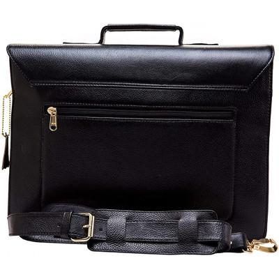Leather Laptop Shoulder Briefcase Bag for Men Shoulder Satchel Bag Best Leather Briefcase Black15 inch