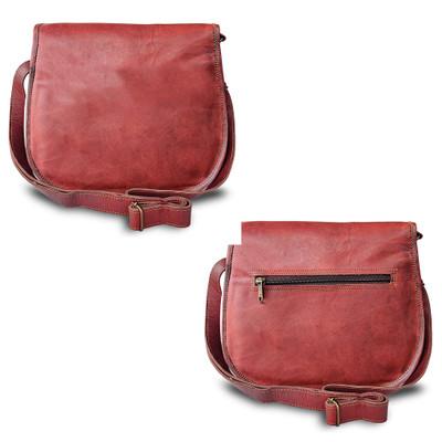 Leather Crossbody Satchel Bag Vintage Purses Handmade Rustic Bag for Women