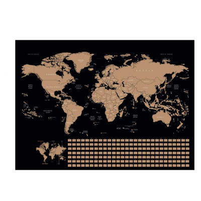 Scratch Off Map Travel Poster Destination Tracker Scratching World Map Large Map