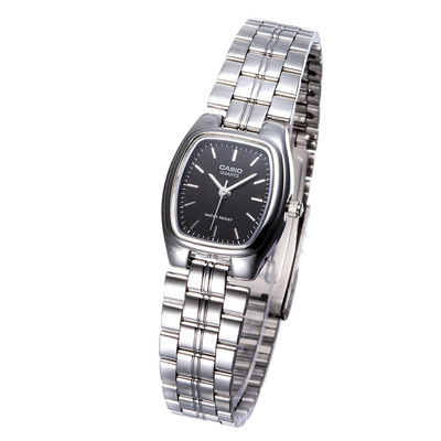 Casio MTP-1169D-1ARDF Women's Stainless Steel Square Strap Watch - Silver