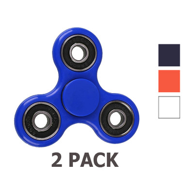 2-Pack Fidget Spinner Toy EDC Finger Stress Relief Toy Hand High Speed