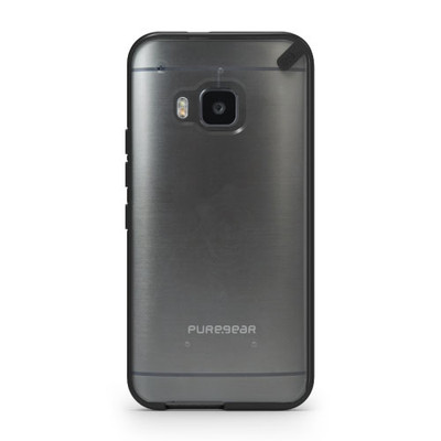 Pure Gear Slim Shell Protecive Cell Phone Case - Black/Clear - HTC One