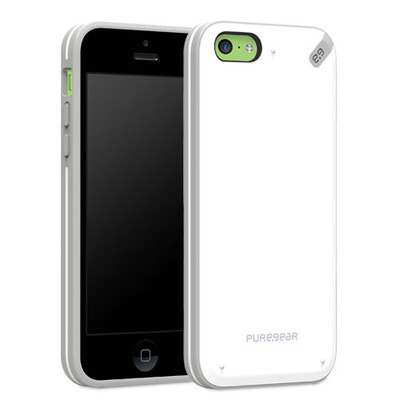Pure Gear Slim Shell Protecive Cell Phone Case - White - iPhone 5C