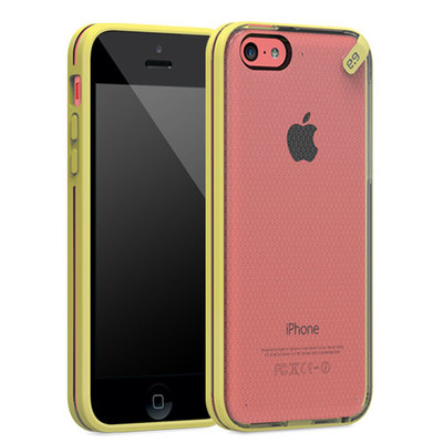 Pure Gear Slim Shell Protecive Cell Phone Case - Yellow - iPhone 5C