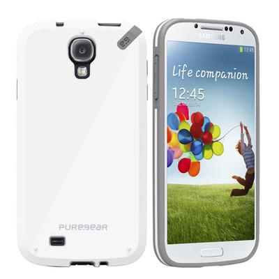 Pure Gear Slim Shell Protecive Cell Phone Case - White - Samsung Galaxy S4