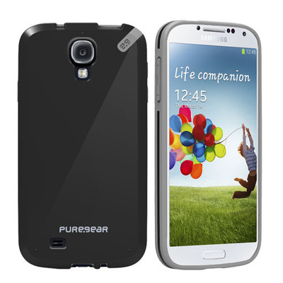 Pure Gear Slim Shell Protecive Cell Phone Case - Black - Samsung Galaxy S4