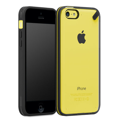 Pure Gear Slim Shell Protecive Cell Phone Case - Black/Clear - iPhone 5C